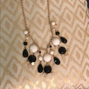 Black and white bubble necklace